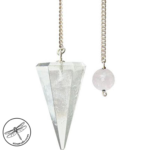 Hexagonal Clear Quartz Pendulum