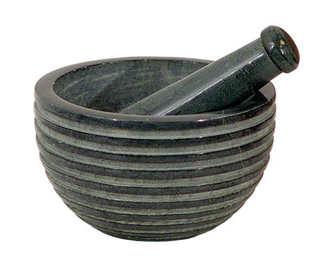 Zen Grey Stripe Mortar & Pestle