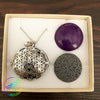 Harmony Ball Aromatherapy Necklace, Flower of Life