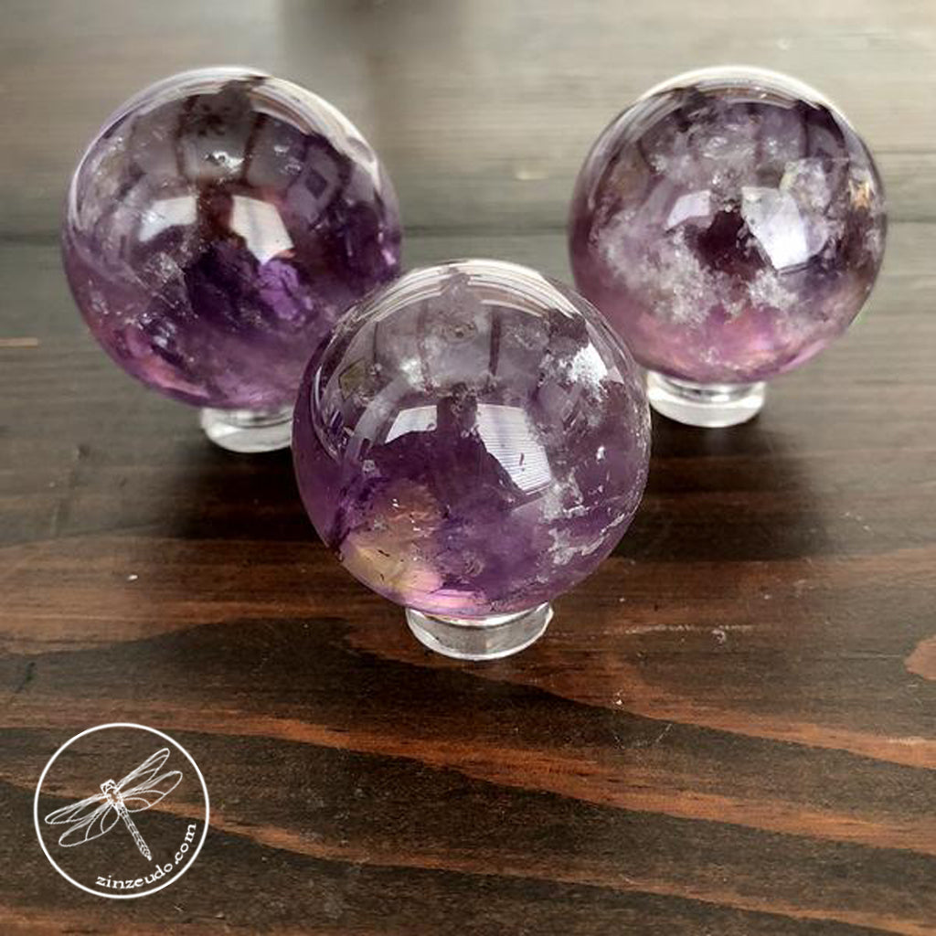 Ametrine Spheres for Intuition & Manifestation