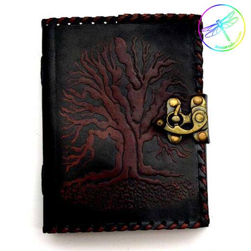 Black Tree of Life Leather Journal