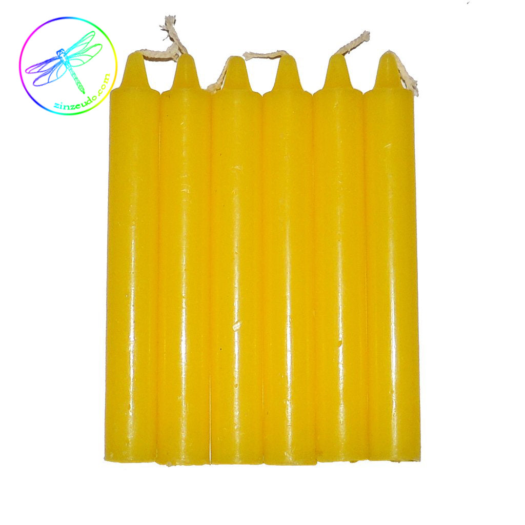 Yellow Taper Candle