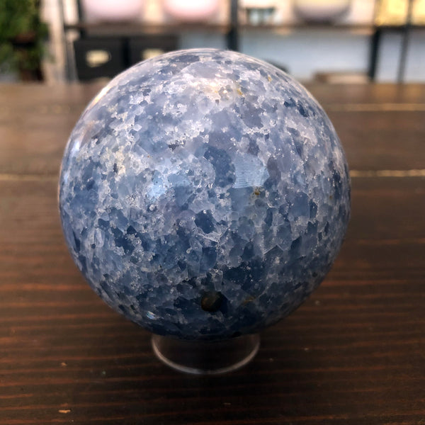 Celestite Sphere for Angelic Communication 72mm