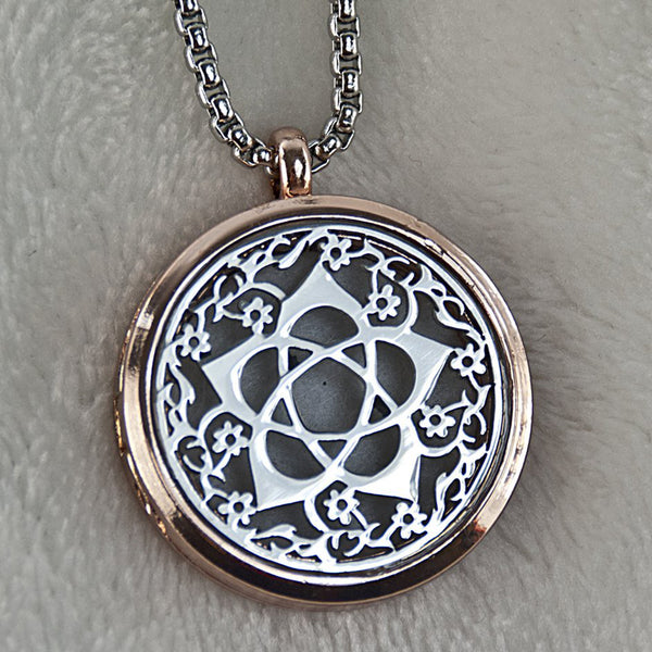 Flower Goddess (Silver) Essential Oil Necklace Diffuser