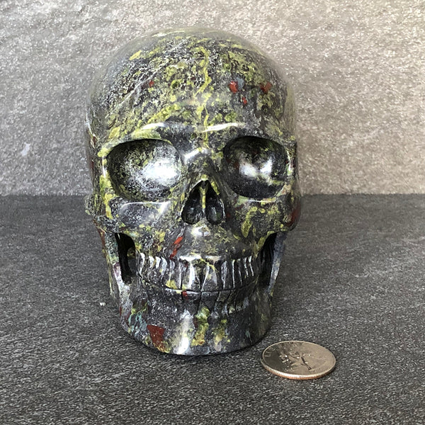 Dragon's Blood Jasper Skull
