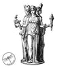 Hekate Votive Candle, Goddess of Magic