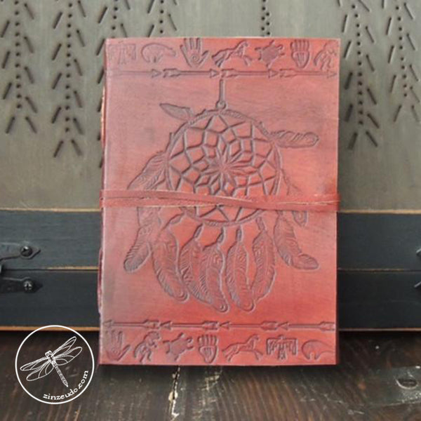 Dreamcatcher Leather Journal