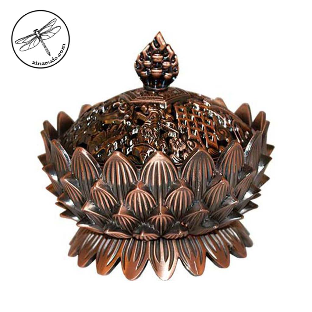Lotus Copper Incense Burner