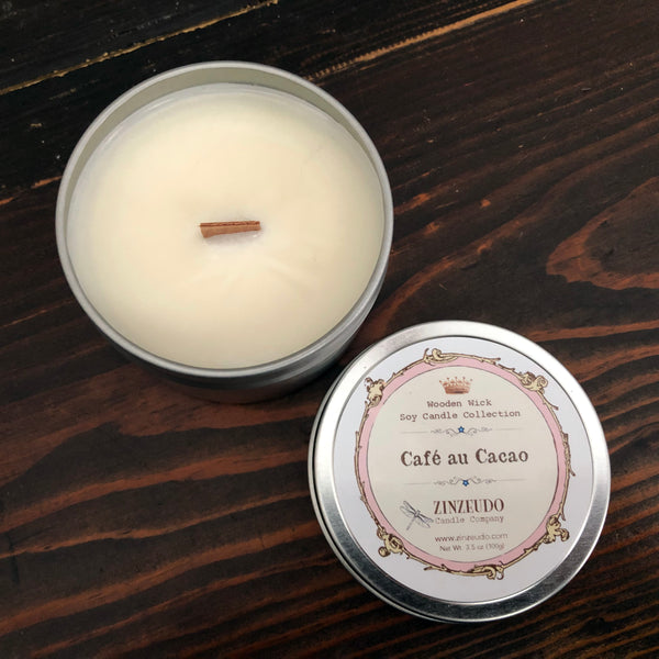 Café au Cacao Wooden Wick Soy Candle