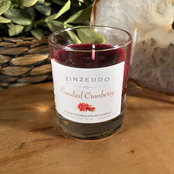 Limited Edition Candied Cranberry Palm Votive