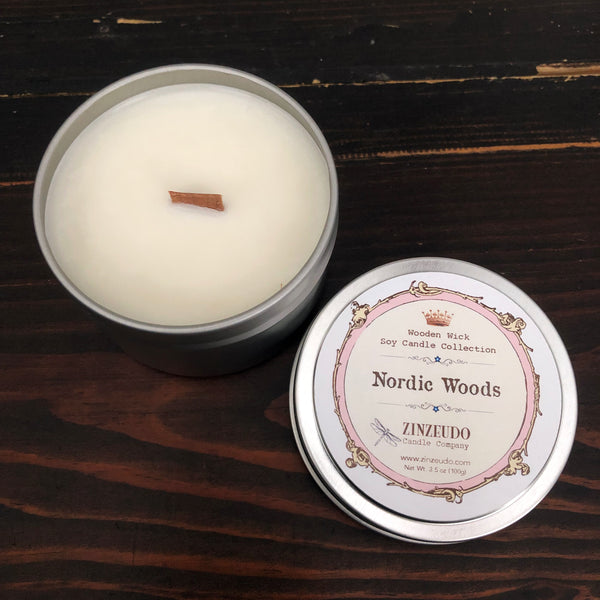 Nordic Woods Wooden Wick Soy Candle