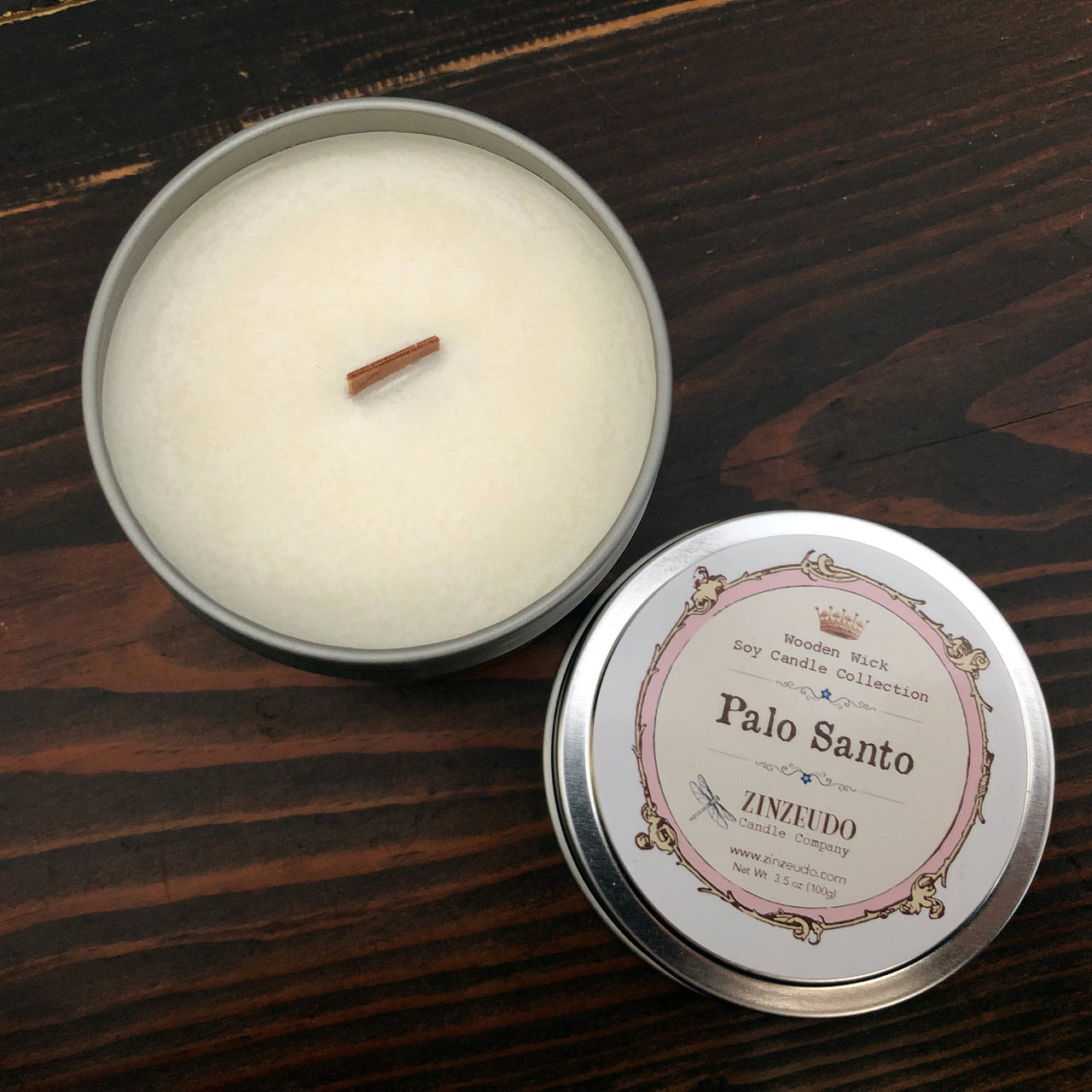 Palo Santo Wooden Wick Soy Candle