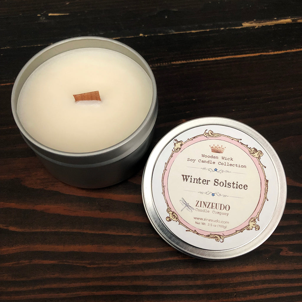 Winter Solstice Wooden Wick Soy Candle