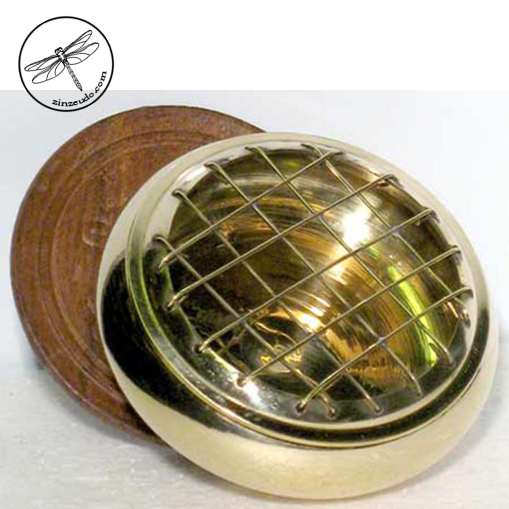 Screen Charcoal Burner - Brass