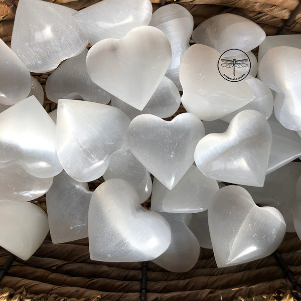Selenite Hearts for Spiritual Connection & High Vibrations