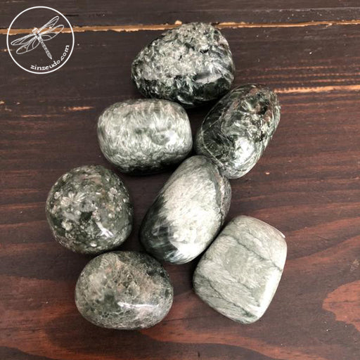 Seraphinite Tumbled Stones for Ascension & Devic Connection
