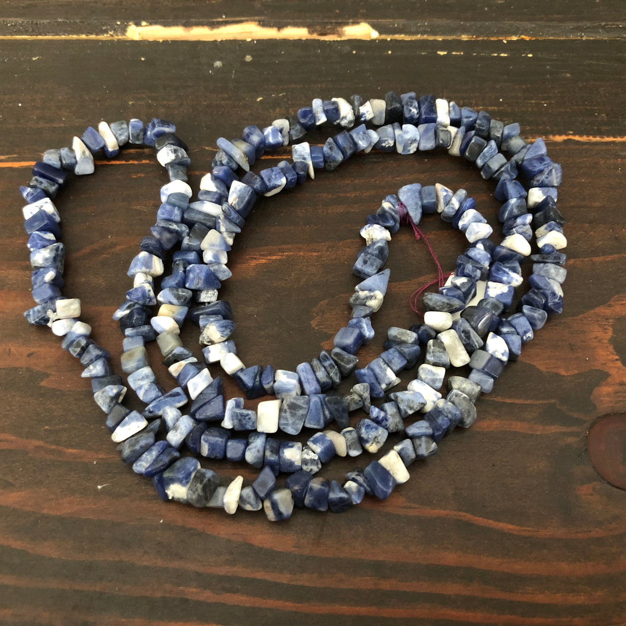 Sodalite Chip Necklace for Intuition and Communication