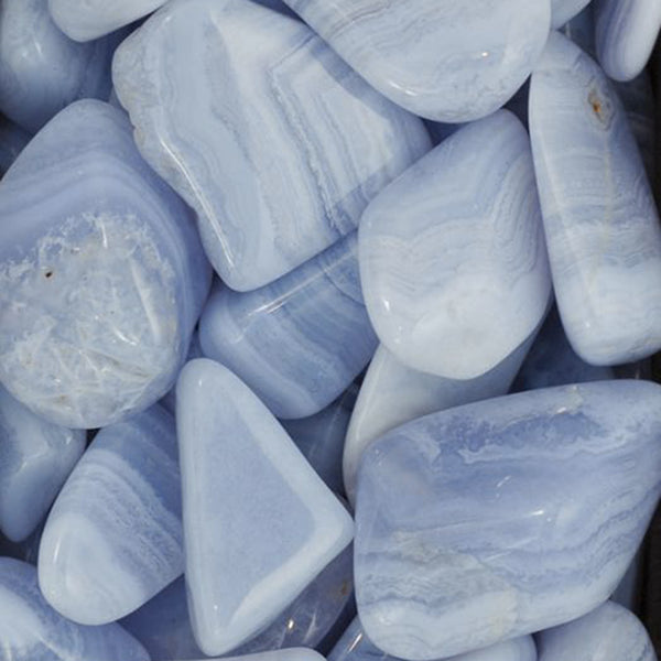 Agate, Blue Lace Tumbled Stones for Communication & Healing