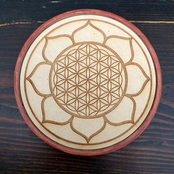 Wood Crystal Grid Disk