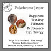 Jasper, Polychrome Tumbled Stones for Happiness & Vitality
