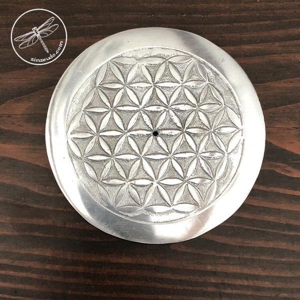 Flower of Life Altar Tile & Incense Burner