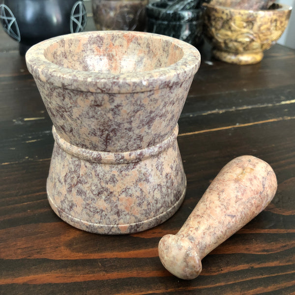 Traditional Soapstone Mortar & Pestle 3""