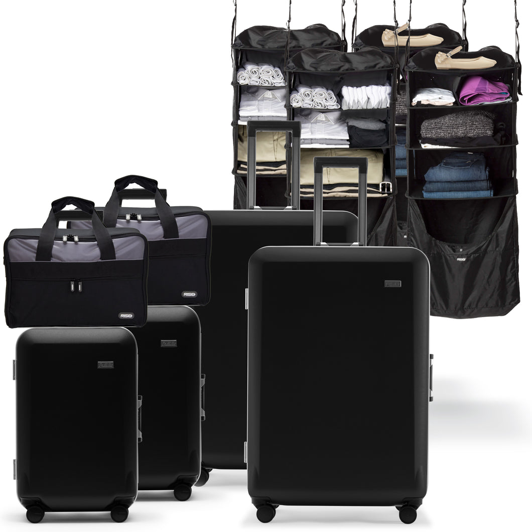 2 Sets Carry-on, Suitcase, Riser, and Jumper