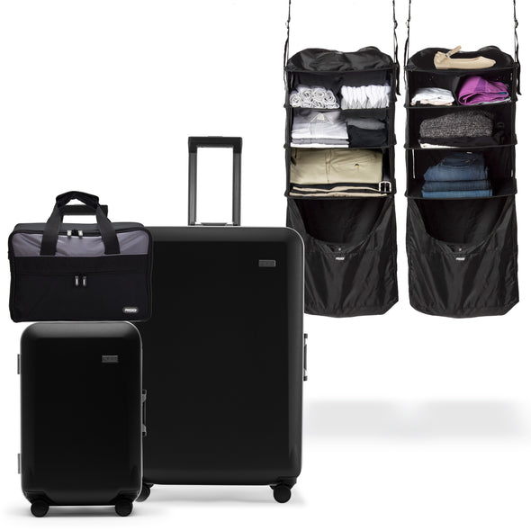 Carry-on, Suitcase, Riser, and Jumper set