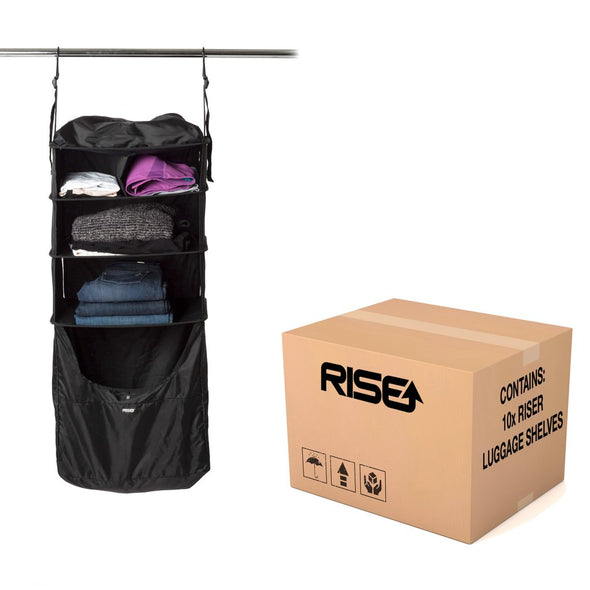 Carton of 10x Riser, luggage shelves