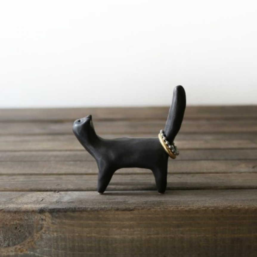 Black Cat Ring Holder - shopdaymoments