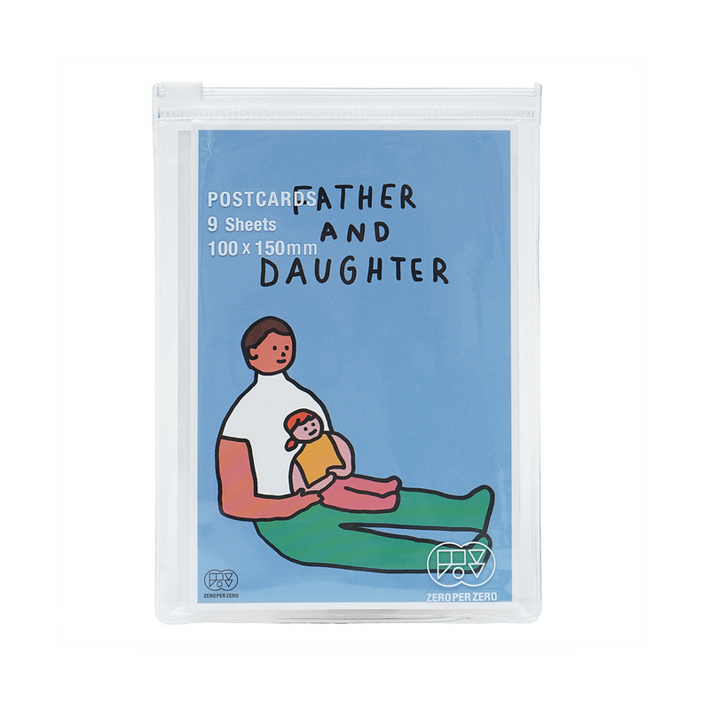 Father and Daughter 1 Postcard Set - shopdaymoments