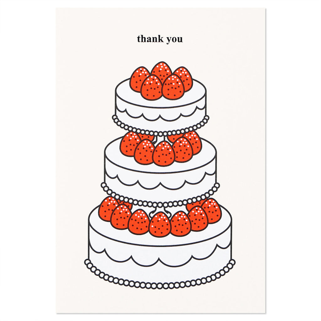 Strawberry Thank You Card Set of 2 - shopdaymoments
