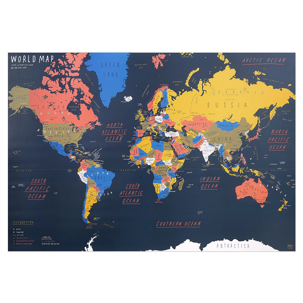 World Map Poster 2 - shopdaymoments