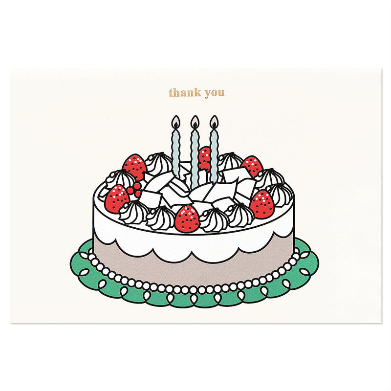Cake Thank You Card Set of 2 - shopdaymoments
