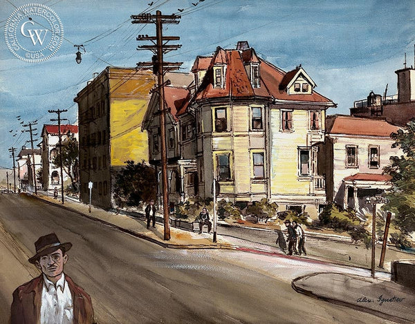 Bunker Hill, California art by Alex Ignatiev. HD giclee art prints for sale at CaliforniaWatercolor.com - original California paintings, & premium giclee prints for sale