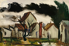 Stormy Weather, 1938, California art by Alexander Nepote. HD giclee art prints for sale at CaliforniaWatercolor.com - original California paintings, & premium giclee prints for sale