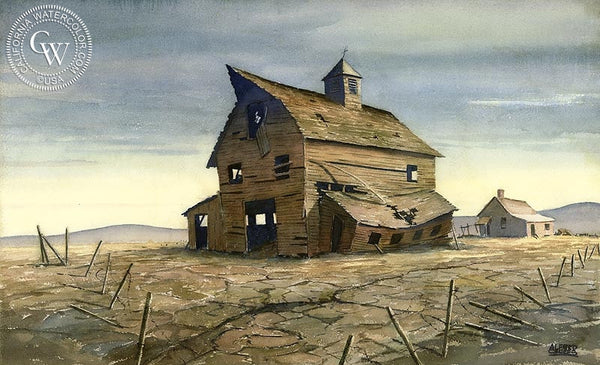 Abandoned, California art by Alfred Owles. HD giclee art prints for sale at CaliforniaWatercolor.com - original California paintings, & premium giclee prints for sale