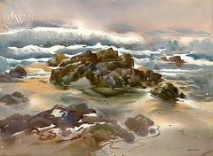 17 Mile Drive, Pebble Beach, a California watercolor painting by Art Riley. HD giclee art prints for sale at CaliforniaWatercolor.com - original California paintings, & premium giclee prints for sale