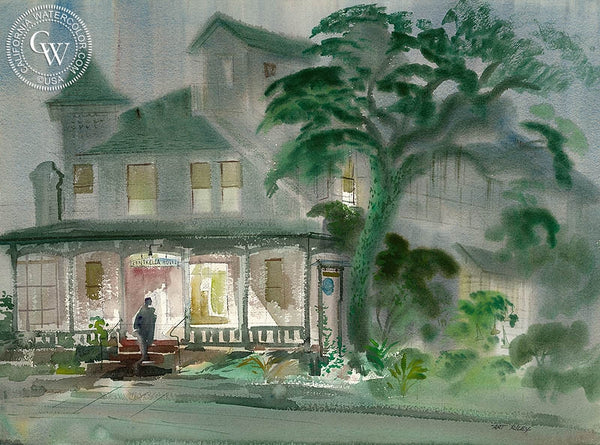 Centrella Hotel, California art by Art Riley. HD giclee art prints for sale at CaliforniaWatercolor.com - original California paintings, & premium giclee prints for sale