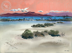 Desertscape, California watercolor art by Art Riley. HD giclee art prints for sale at CaliforniaWatercolor.com - original California paintings, & premium giclee prints for sale