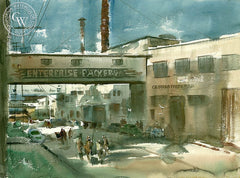 Enterprise Packers, California art by Art Riley. HD giclee art prints for sale at CaliforniaWatercolor.com - original California paintings, & premium giclee prints for sale
