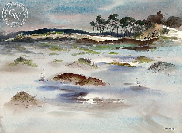 Sand Dunes, California art by Art Riley. HD giclee art prints for sale at CaliforniaWatercolor.com - original California paintings, & premium giclee prints for sale