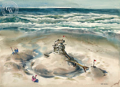 Sand Fort, California art by Art Riley. HD giclee art prints for sale at CaliforniaWatercolor.com - original California paintings, & premium giclee prints for sale