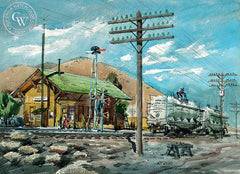 Vincent, Mint Canyon, CA, 1959, California art by Art Riley. HD giclee art prints for sale at CaliforniaWatercolor.com - original California paintings, & premium giclee prints for sale