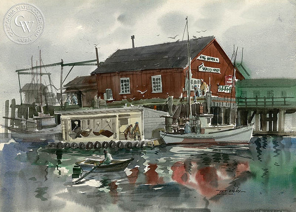 Westport, Washington, California art by Art Riley. HD giclee art prints for sale at CaliforniaWatercolor.com - original California paintings, & premium giclee prints for sale