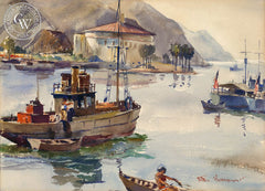 Catalina, a California watercolor painting by Arthur Beaumont. HD giclee art prints for sale at CaliforniaWatercolor.com - original California paintings, & premium giclee prints for sale