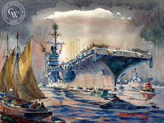 Overseas Deployment, 1966, California art by Arthur Beaumont. HD giclee art prints for sale at CaliforniaWatercolor.com - original California paintings, & premium giclee prints for sale