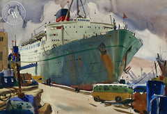 The Caronia, California art by Arthur Beaumont. HD giclee art prints for sale at CaliforniaWatercolor.com - original California paintings, & premium giclee prints for sale