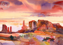 Monument to a Moment, California art by Betsy Dillard Stroud. HD giclee art prints for sale at CaliforniaWatercolor.com - original California paintings, & premium giclee prints for sale
