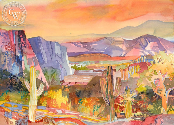 Near the Mogollon Rim, California art by Betsy Dillard Stroud. HD giclee art prints for sale at CaliforniaWatercolor.com - original California paintings, & premium giclee prints for sale